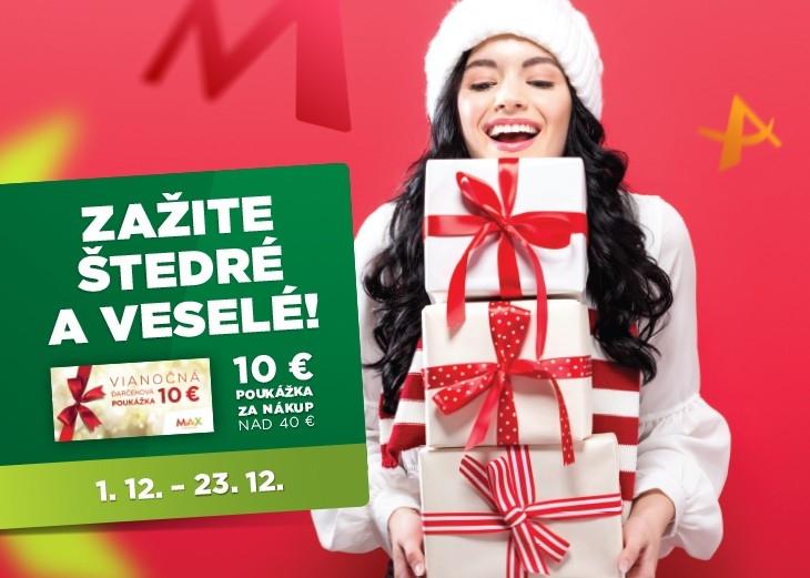 Zažite štedré a veselé! v nákupnom centre OC MAX Trenčín c8d2677a258