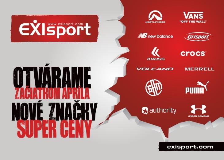 b2ef46675 Nové značky, super ceny - otvárame začiatkom apríla nový Exisport pre vás!
