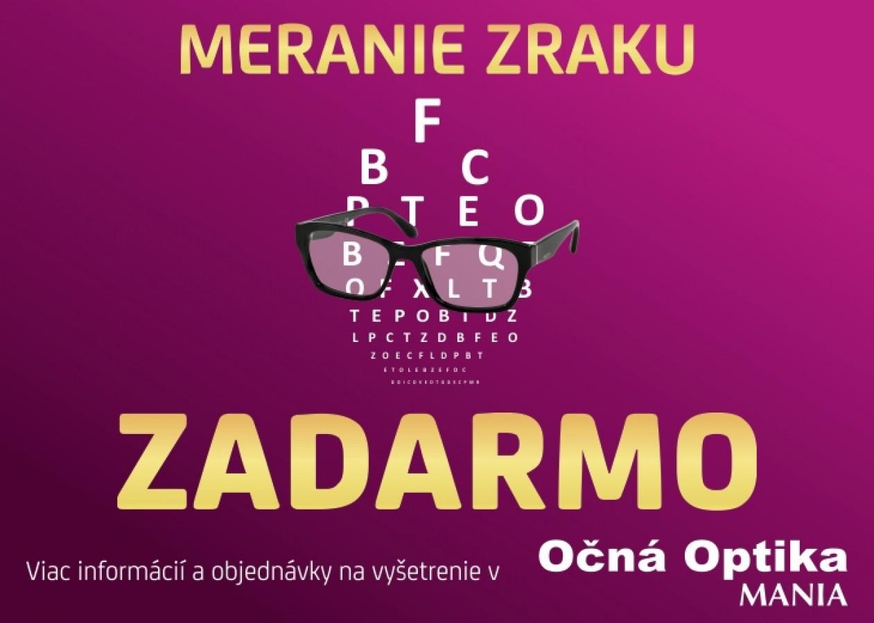 e5af78ddb Meranie zraku zadarmo len v Očná Optika MANIA. | Zľavy a akcie v OC ...