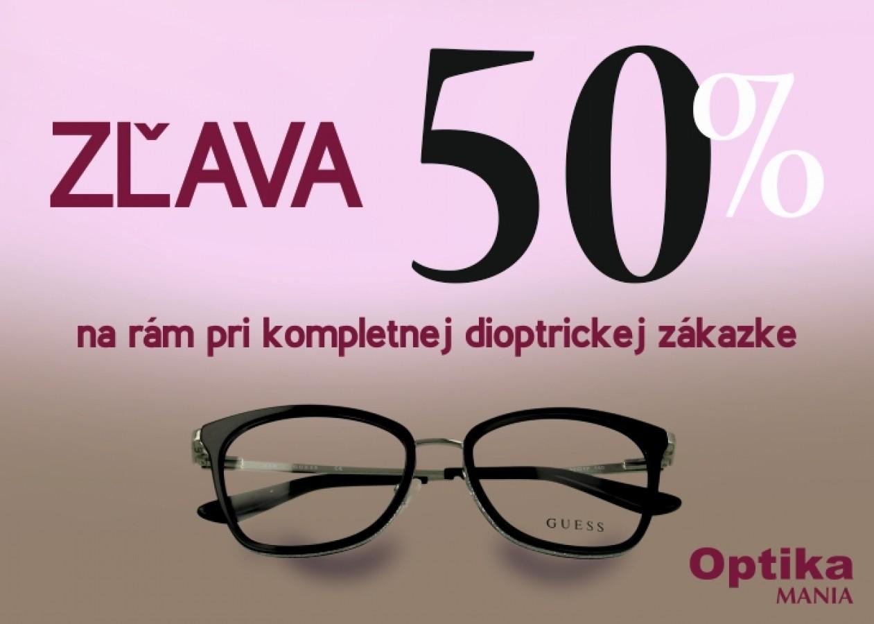 Len v Optika MANIA zľava 50 % na okuliarové rámy  9fe7f3656f7