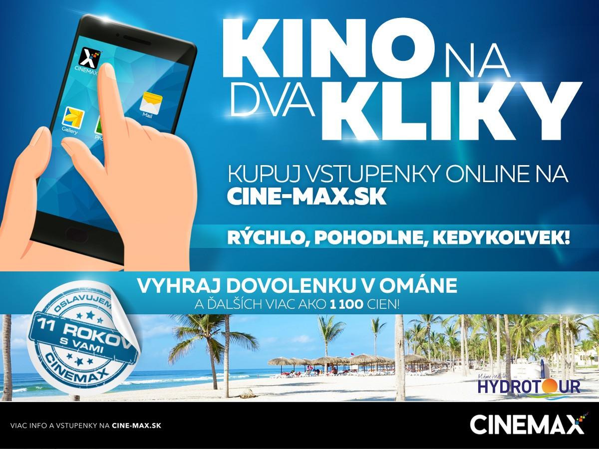 c26f99fee Narodeninová akcia CINEMAX: KINO NA DVA KLIKY. | Zľavy a akcie v OC ...