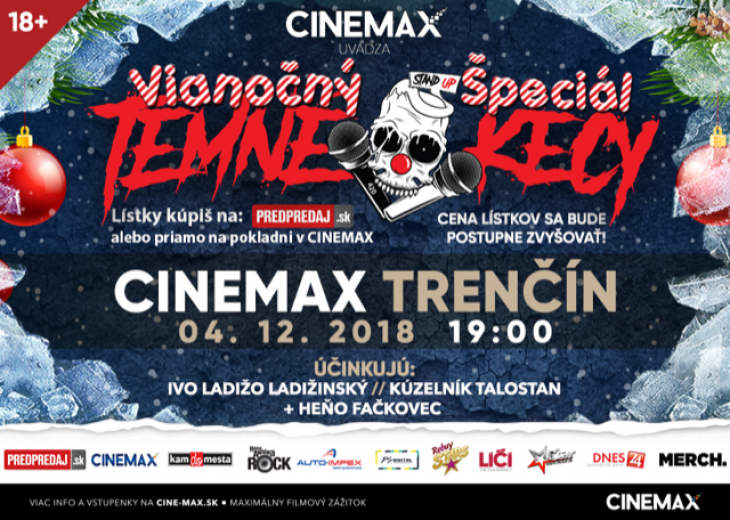 7c7ad1750 4.12. v kine Cinemax Vianočný špeciál TEMNÉ KECY | Zľavy a akcie v ...