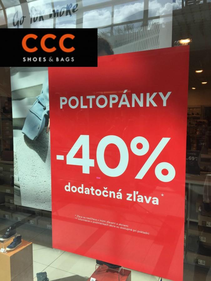 faa5e720c182 DODATOČNÁ ZĽAVA 40% V CCC!