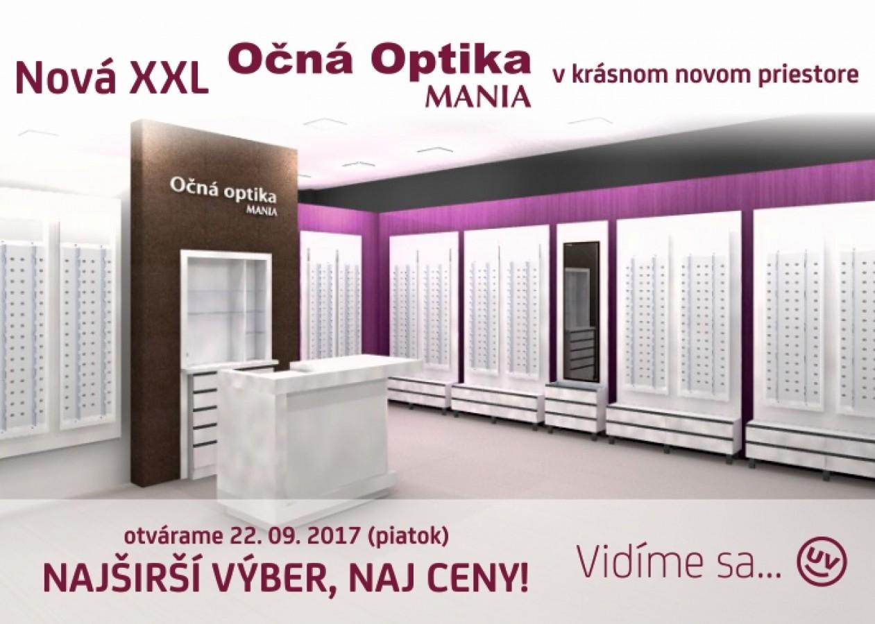 cf4985600 Nová XXL očná OPTIKA MANIA | Zľavy a akcie v OC MAX Trenčín