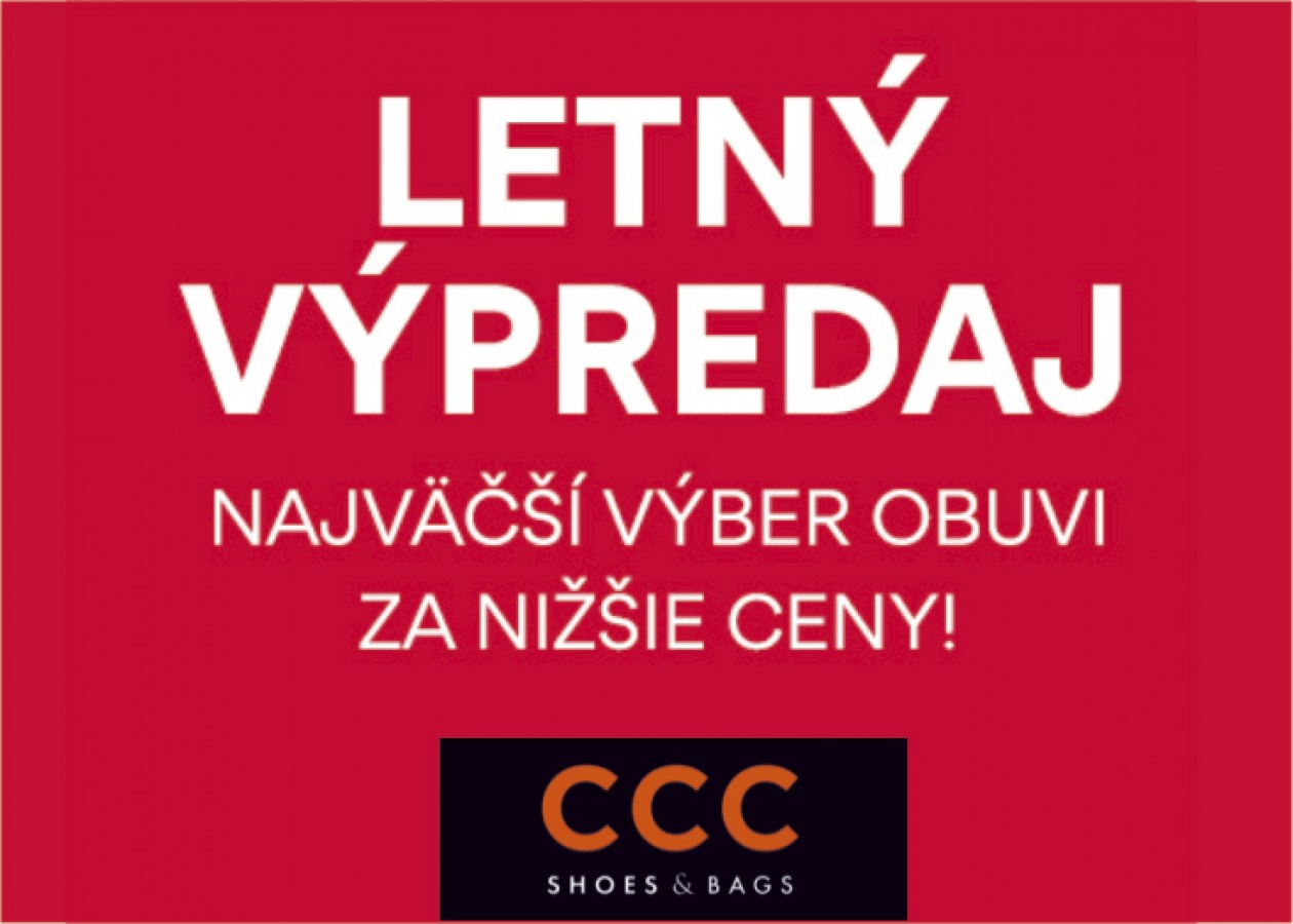 9c04b188e05 VEĽKÝ LETNÝ VÝPREDAJ V CCC!